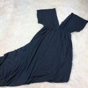 🥳SALE J Crew Maxi Dress VNeck Heather Blue Size L